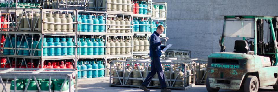 Gas bestelling klaarplaatsen